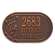Whitehall Personalized Woodridge Bird Oval Plaque - Standard - Wall - 3 Line