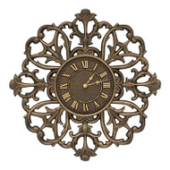 "Whitehall Filigree Silhouette 21"" Indoor Outdoor Wall Clock"