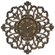 "Whitehall Filigree Silhouette 21"" Indoor Outdoor Wall Thermometer"