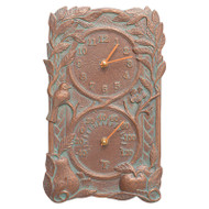 Whitehall Fruit Bird Indoor Outdoor Wall Clock & Thermometer