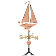 Whitehall Classic Directions Polished Copper Sailboat WV