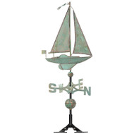 Whitehall Classic Directions Verdigris Copper Sailboat WV
