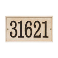 Whitehall Stonework Rectangle House Numbers Plaque, Standard Wall 1-line