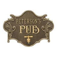 Whitehall Hops & Barley Beer Pub Plaque 1-line