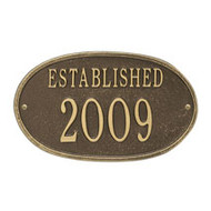 Whitehall Established Date Personalized Plaque