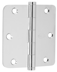 "Ives Architectural Hinges 1000 Series Residential Full mortise Steel Substrates hinges Non rising pin 3-1/2"" x 3-1/2"", 1/4"" Radius Corner (Order in multiples of 3) - 1012F"