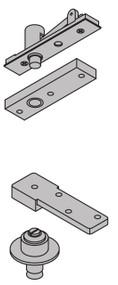 "Ives 7200 Series Pivots 1 1/2"" Offset Top & Bottom Pivot Set Center Hung 300 Pound Rating - 7253 SET"