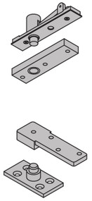 "Ives 7200 Series Pivots 1 1/2"" Offset Top & Bottom Pivot Set Center Hung 500 Pound Rating - 7255 SET"
