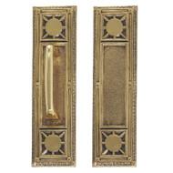 """BRASS Accents Renaissance Door Push / Pull Plate Nantucket 3-3/4"""" x 13-7/8"""""""