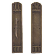 "BRASS Accents Renaissance Door Push / Pull Plate Oxford 3-3/8"" x 18"""