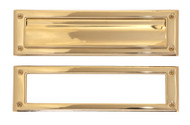 BRASS Accents Mail Slot - Flap Exterior / Frame Interior