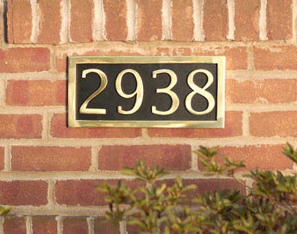 BRASS Accents Address Numerals Marker Plaque