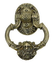 BRASS Accents Neptune Door Knocker 7-3/8""