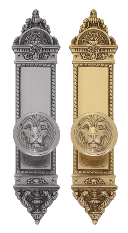 "BRASS Accents L'Enfant Collection Knob / Lever Entry Set - 3"" x 16-1/8"" Plates"