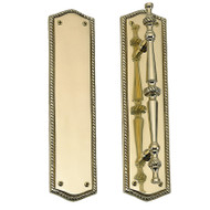 "BRASS Accents Trafalgar Collection Knob / Lever Entry Set - 2-1/2"" x 10-1/2"" Plates"