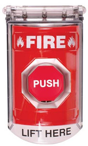 Fire  push button switch with cover