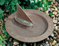 Whitehall Combination Sundial Birdbaths Aluminum (01256)