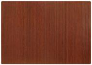 Dark Cherry - Bamboo Roll-Up 5mm Chairmat, 72 x 48, no lip