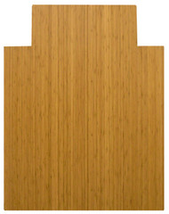 Natural - Bamboo Roll-Up 5mm Chairmat, 36 x 48, with lip