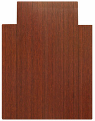 Dark Cherry - Bamboo Roll-Up 5mm Chairmat, 36 x 48, with lip
