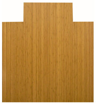 Natural - Bamboo Roll-Up 5mm Chairmat, 44 x 52, with lip