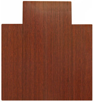 Dark Cherry - Bamboo Roll-Up 5mm Chairmat, 44 x 52, with lip