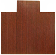 Dark Cherry - Bamboo Roll-Up 5mm Chairmat, 55 x 57, with lip
