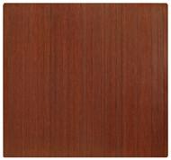 Dark Cherry - Bamboo Roll-Up 5mm Chairmat, 52 x 48, no lip