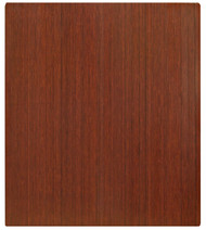 Dark Cherry - Bamboo Roll-Up 5mm Chairmat, 42 x 48, no lip
