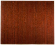 Dark Cherry - Bamboo Deluxe Roll-Up 8mm Chairmat, 60 x 48, no lip