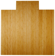 Natural - Bamboo Deluxe Roll-Up 8mm Chairmat, 55 x 57, with lip