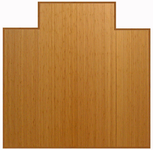 Natural - Bamboo Tri-Fold 12mm Chairmat, 47 x 51, with lip