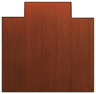 Dark Cherry - Bamboo Tri-Fold 12mm Chairmat, 47 x 51, with lip