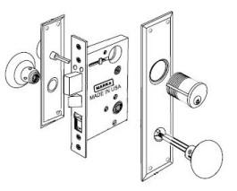 mortise lockset 91a. Black Bedroom Furniture Sets. Home Design Ideas