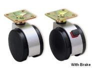 Twin Wheel Caster Plate Type