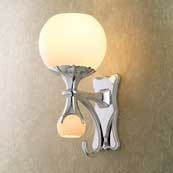 CIRCA Light W/ Satin Opal Glass W/ Nightlight