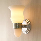 CHELSEA Light W/ Satin Opal Glass W/ Nightlight