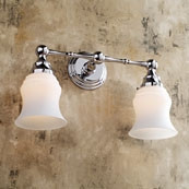 CHELSEA Double Light W/ Satin Etched Glass