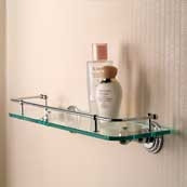 CHELSEA 18 inch Tempered Glass Gallery Shelf