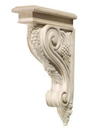 Hand Carved Corbels - Grape
