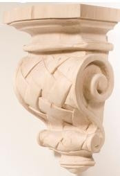 Hand Carved Corbels - Basket Weave - 198-08-100