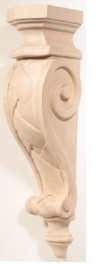 Hand Carved Corbels - Basket Weave - 198-08-120