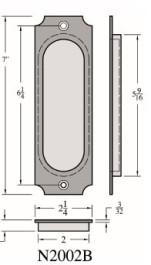 Pocket Door Flush Pull - N2002B