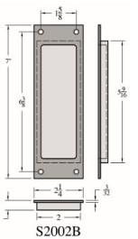 Pocket Door Flush Pull - S2002B