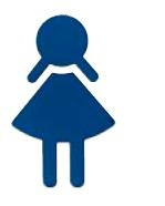 Restroom Door Sign Girl Symbol