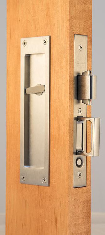 Accurate Pocket Door Privacy Lock And Pull With Outside Trim   2002 CPDL X  S2002T