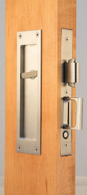 Accurate Pocket Door Privacy Lock and Pull - 2002-CPDL x S2002T
