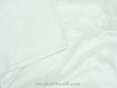 White 100% Authentic Silk Fabric