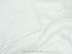 White 100% Authentic Silk Fabric