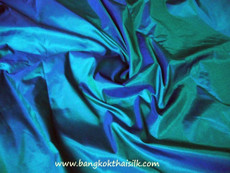 Teal 100% Authentic Silk Fabric